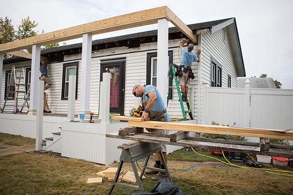 Job Site Deck Building