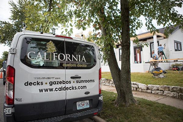 California Custom Decks Work Van