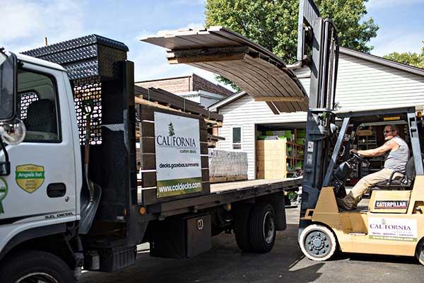 California Custom Decks Truck Forklift