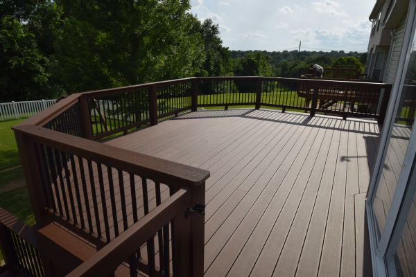 Deckorators Rosewood TimberTech Walnut Builder Rail St Louis