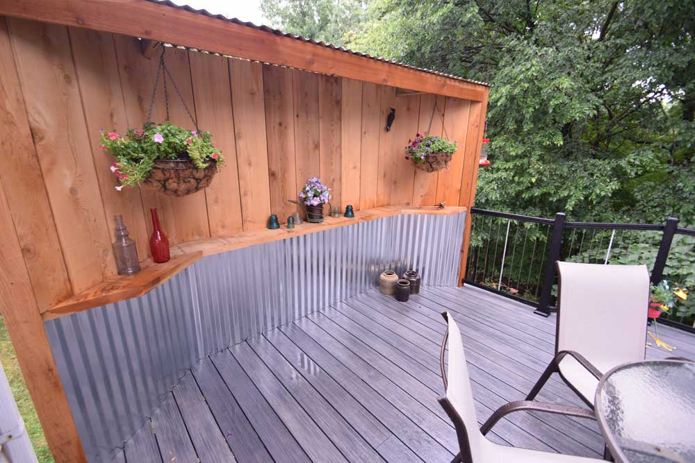 Deckorators Smokehouse Privacy Wall Corrugated Metal
