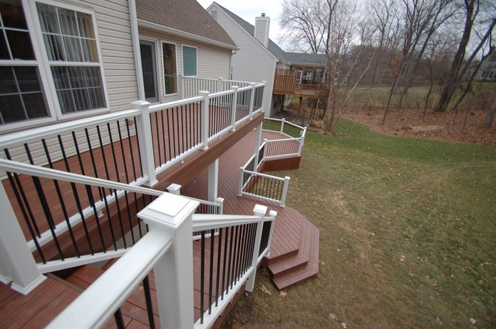 Inset Deck Stairs