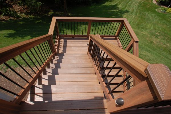 Evergrain Envisions Spiced Teak Deck Stairs Chesterfield