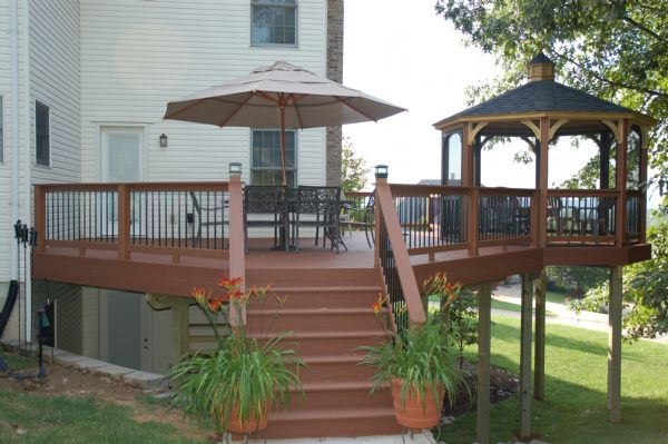 Evergrain Gazebo Redwood Deck St Louis