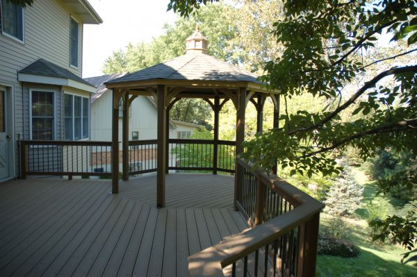 Evergrain WeatheredWood Deck Gazebo Kirkwood