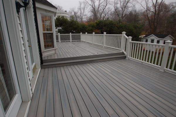 Fiberon decks gallery page 1 california custom decks for Grey stone deck