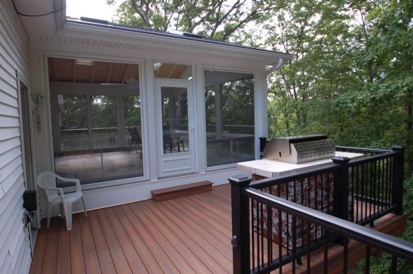 Fiberon Horizon Ipe Deck Screen Room StLouis
