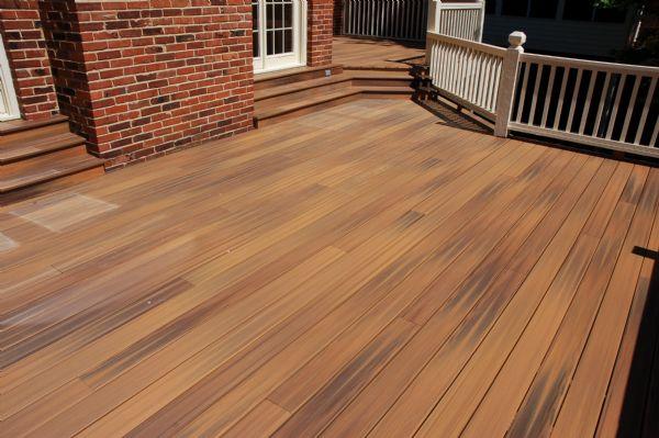 Synthetic decks california custom decks for Fiberon horizon ipe decking