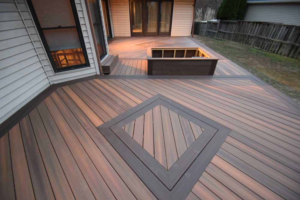 Fiberon Ipe Diamond Deck Inlay Multi Color St. Louis
