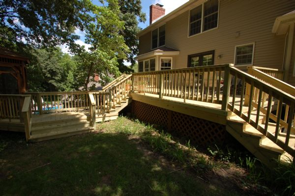 Pine Deck Stairs Rail St Louis