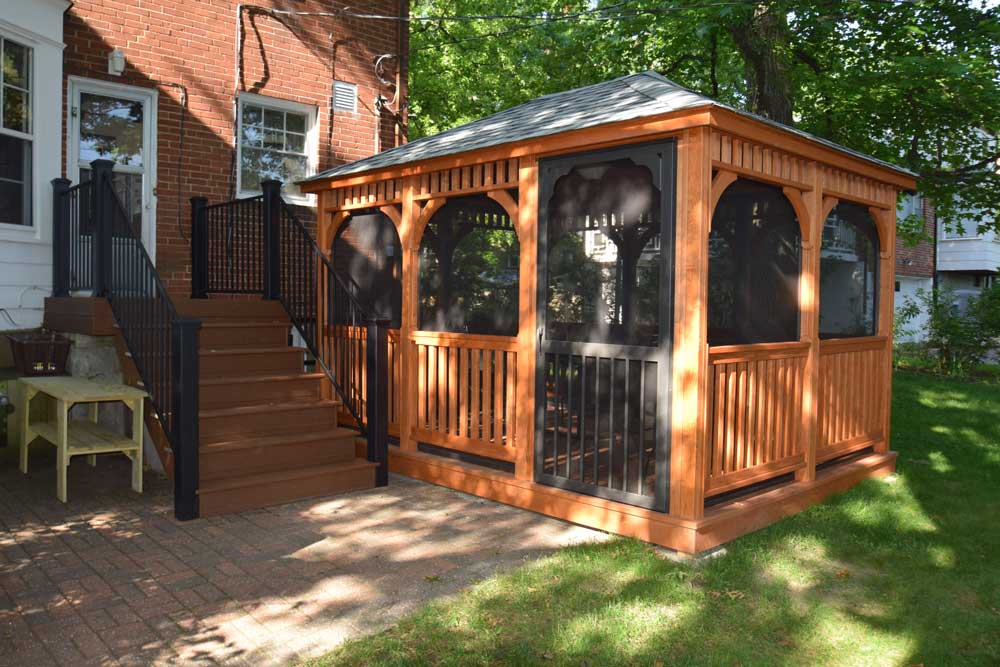 Real Wood Gazebo Pavilion Screened