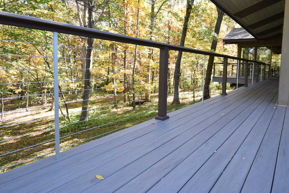TimberTech Ashwood Horizontal Cable Railing Huntleigh