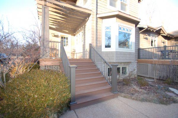 TimberTech Terrain Brown Oak Stairs Deck St Louis