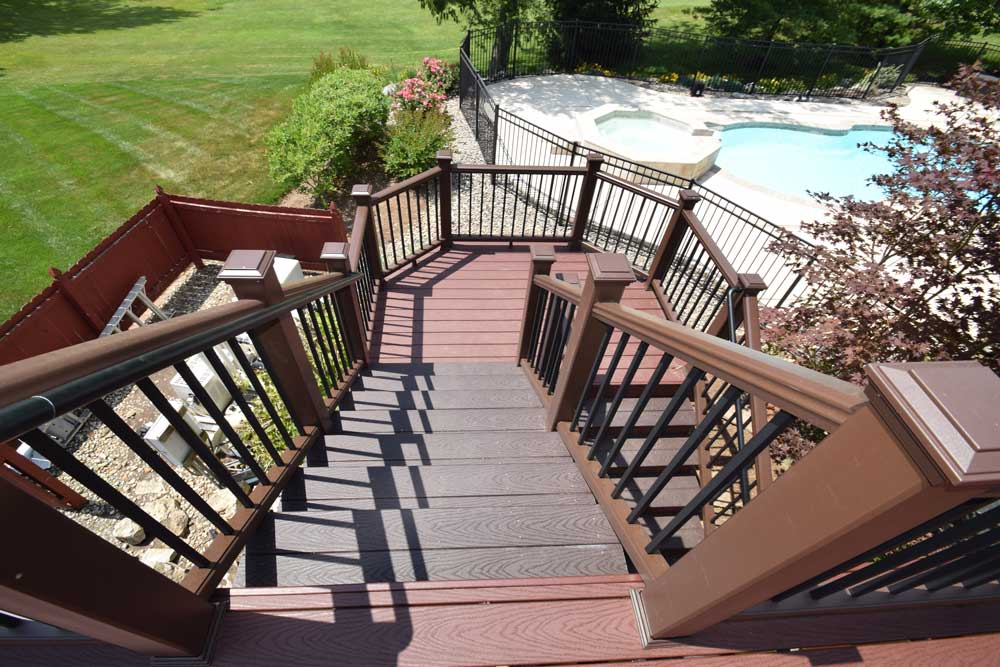 Trex Stair And Landing Multi Color Vintage Lantern Railing