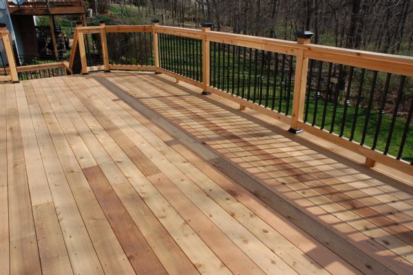 Wood decks st louis custom wood decks california for What is the best wood for decking