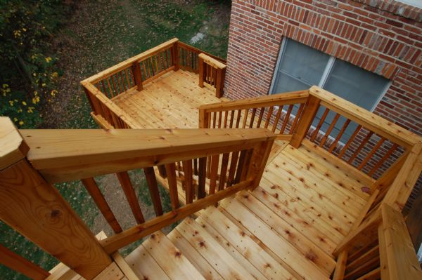 Western Red Cedar Deck Stairs Chesterfield