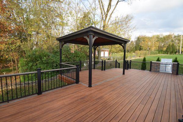 Zuri Pecan Deck Pavilion Afco Rail Chesterfield St Louis