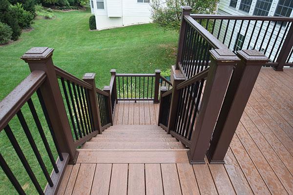 Azek Mahogany Staircase
