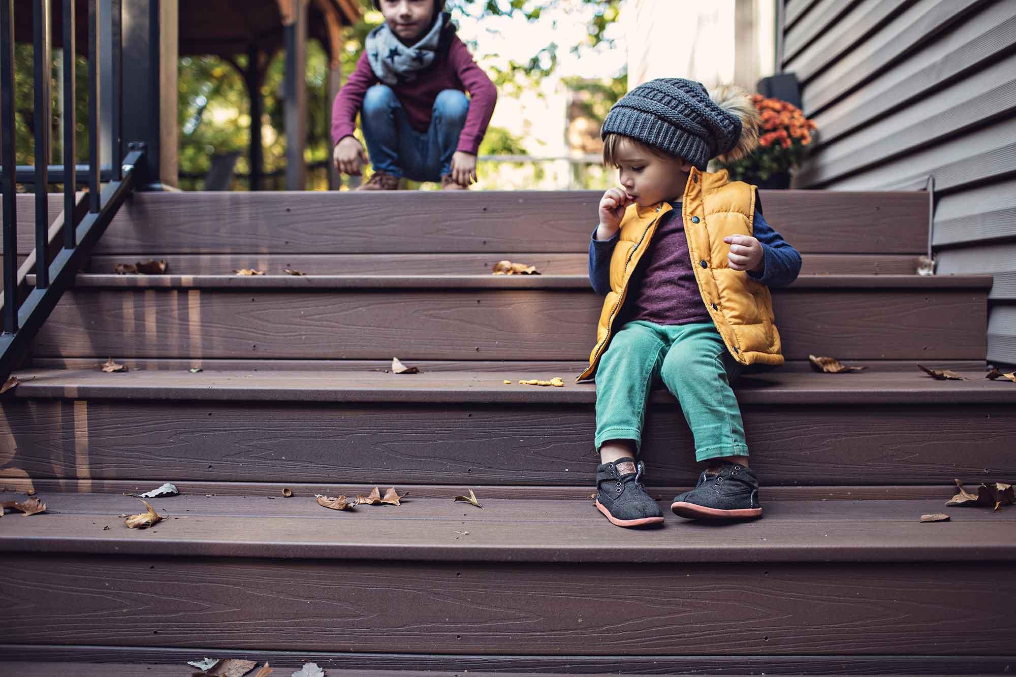 California Custom Decks Fall Deck Stairs St. Louis
