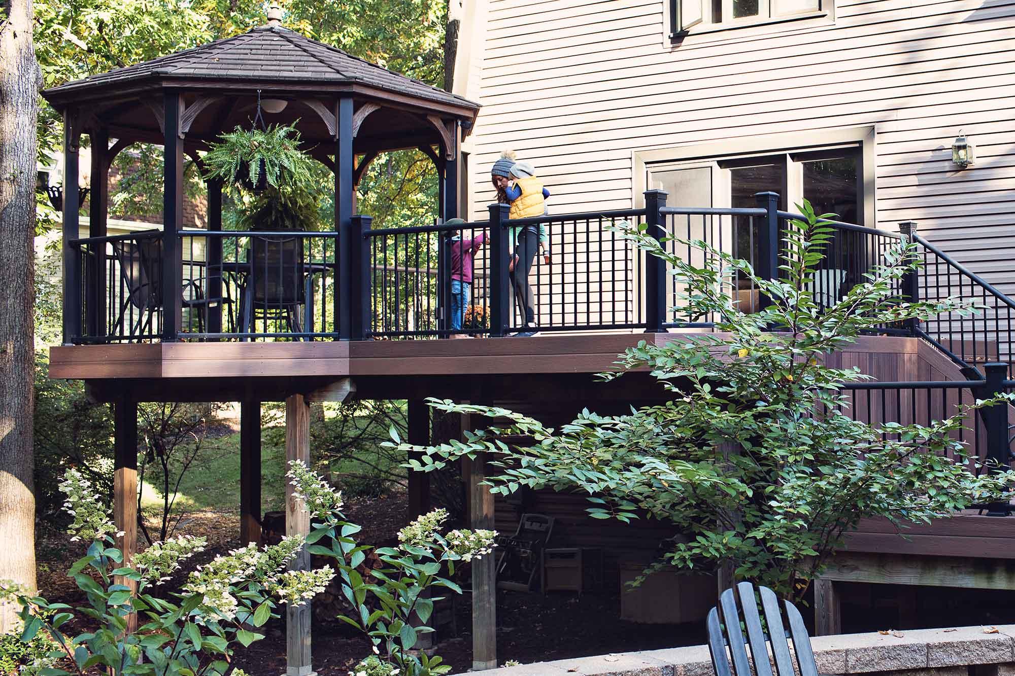 California Custom Decks Fall Deck Pavilion