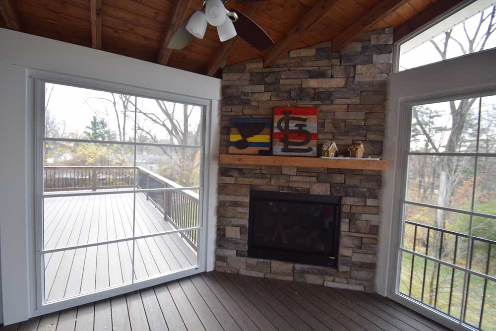Three Season Room Fireplace