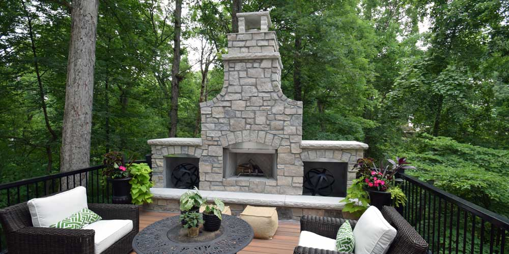 California Custom Decks Outdoor Fireplace